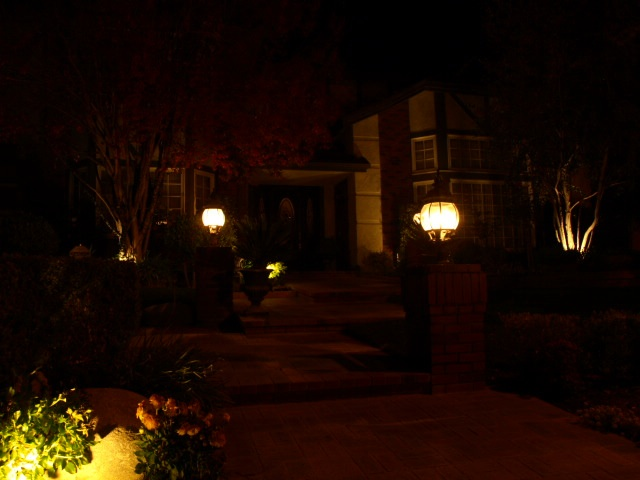 Landscape Lighting Simi Valley Entrance